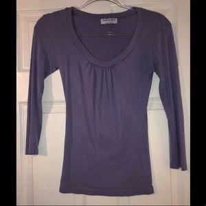 Michael Stars purple long sleeve shirt
